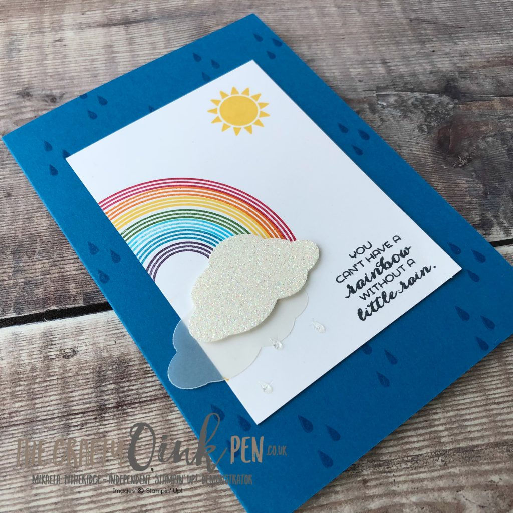Stampin' Up! Retiring Products - Sunshine & Rainbows Stamped card by Mikaela Titheridge, #6UK Independent Stampin' Up! Demonstrator, The Crafty oINK Pen. Supplies available through my online store 24/7