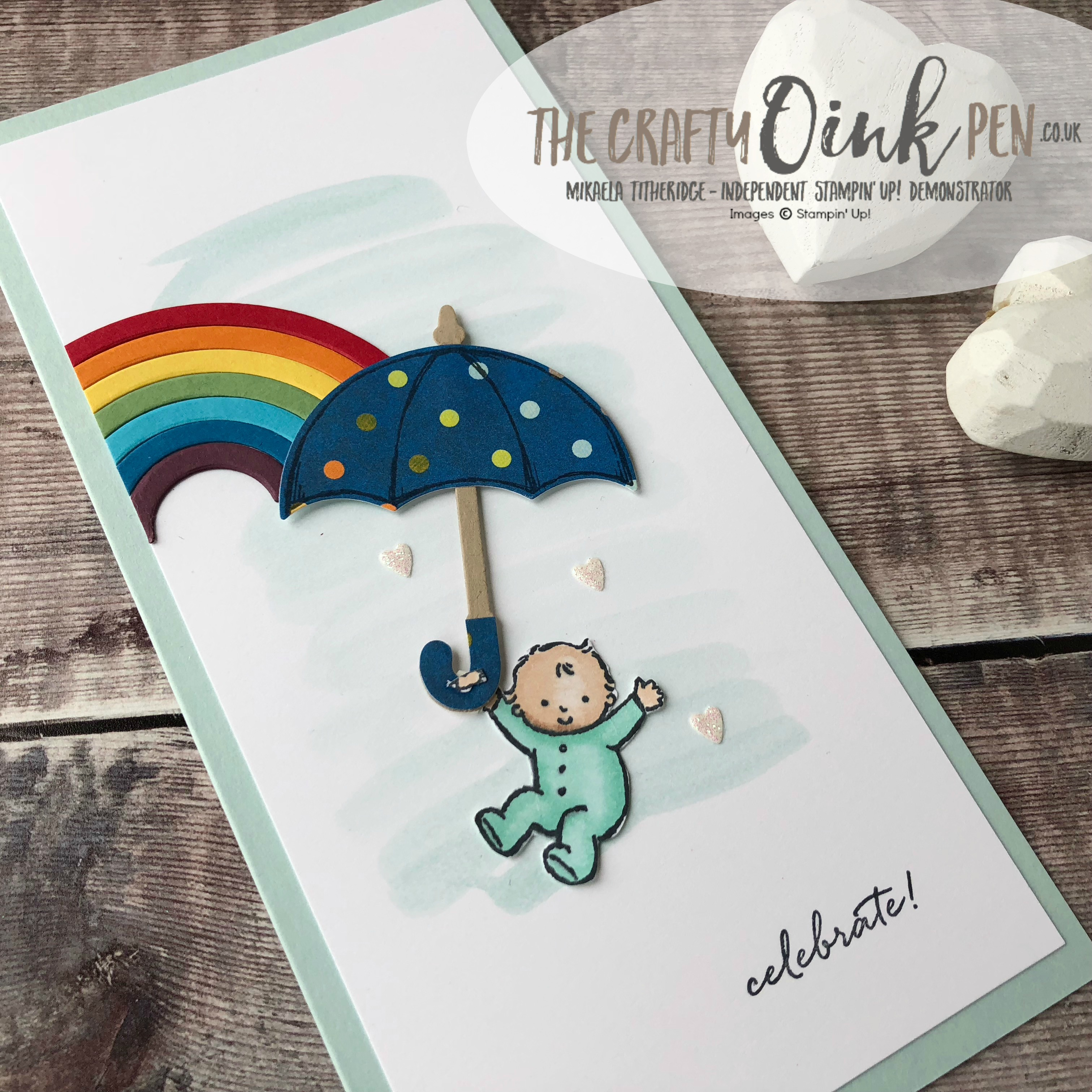 Weather Together with Rainbow Framelits and Moon Baby for the Royal Baby by Mikaela Titheridge, #6UK Independent Stampin' Up! Demonstrator, The Crafty oINK Pen. Supplies available through my online store 24/7