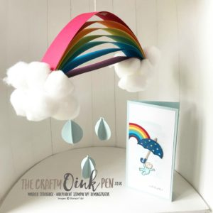 Weather Together with Moon Baby for the Stampin' Creative Blog Hop - April Showers to mark the birth of Royal Baby Louis by Mikaela Titheridge, #6UK Independent Stampin' Up! Demonstrator, The Crafty oINK Pen. Supplies available through my online store 24/7