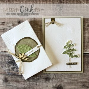 Rooted in Nature offers Trees and Texture from the NEW Annual Stampin' Up! Catalogue 2018. Gift card and Gift box packaging by Mikaela Titheridge, #6UK Independent Stampin' Up! Demonstrator, The Crafty oINK Pen. Supplies available through my online store 24/7