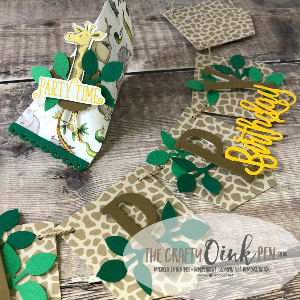 Party Central using Animal Outings and Pocket Framelits by Mikaela Titheridge, #6UK Independent Stampin' Up! Demonstrator, The Crafty oINK Pen. Supplies available through my online store 24/7