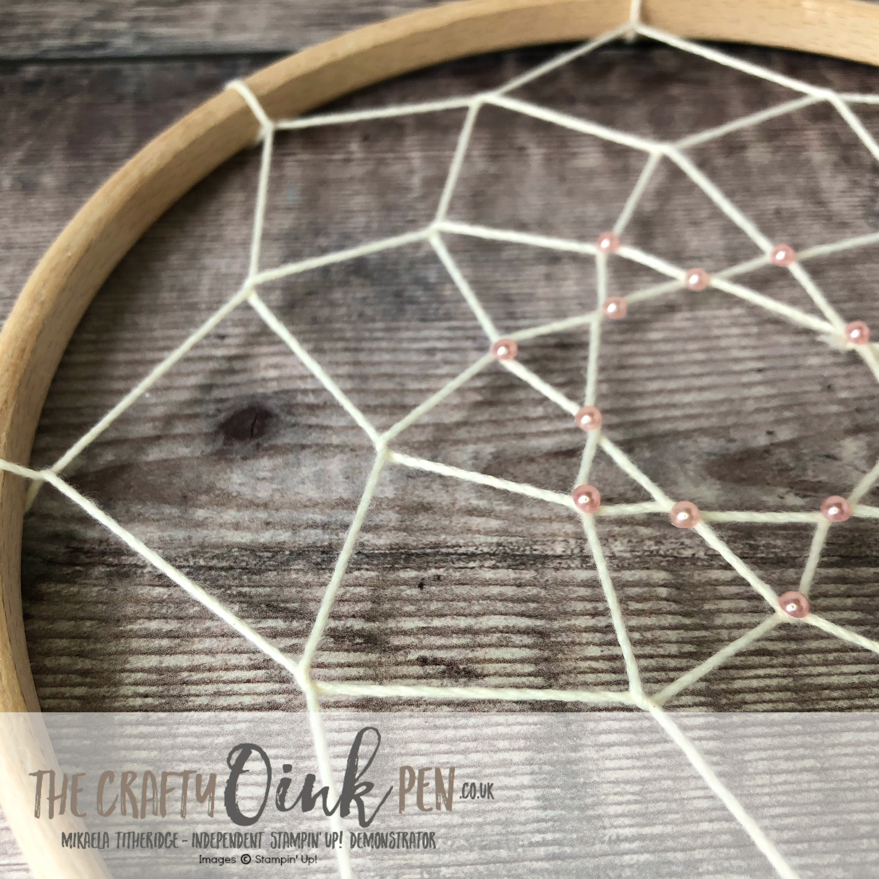 Chase your Dreams with this Dream Catcher by Mikaela Titheridge, #6UK Independent Stampin' Up! Demonstrator, The Crafty oINK Pen. Supplies available through my online store 24/7