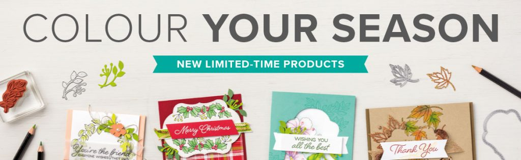 Colour your Season Limited Time Products available through Mikaela Titheridge, Independent Stampin' Up! Demonstrator, The Crafty oINK Pen 24/7 online shop