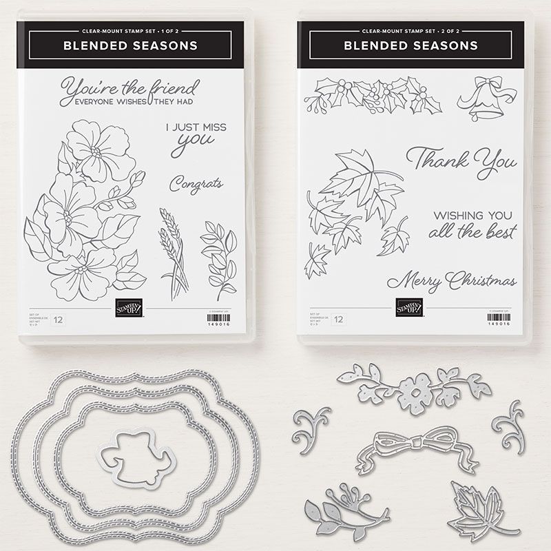 Colour your season suite. Blended Seasons Bundle. Limited Time offer by Mikaela Titheridge, Stampin' Up! Demonstrator, The Crafty oINK Pen. Online Shop available 24/7