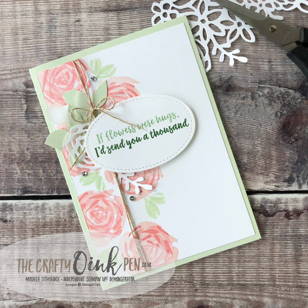 Abstract Impressions Card by Mikaela Titheridge, #6UK Independent Stampin' Up! Demonstrator, The Crafty oINK Pen. Supplies available through my online store 24/7