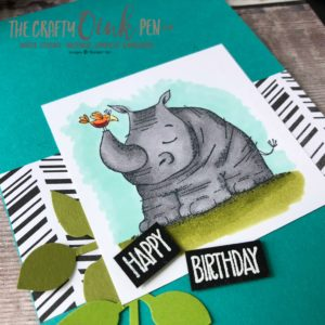 Animal Outing Birthday Card by Mikaela Titheridge, #6UK Independent Stampin' Up! Demonstrator, The Crafty oINK Pen. Supplies available through my online store 24/7