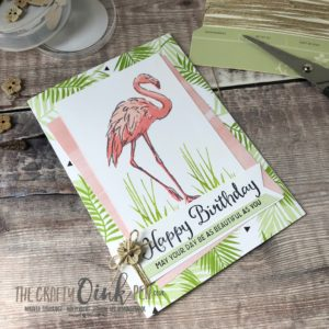 Fabulous Flamingo by Mikaela Titheridge, #6UK Independent Stampin' Up! Demonstrator, The Crafty oINK Pen. Supplies available through my online store 24/7