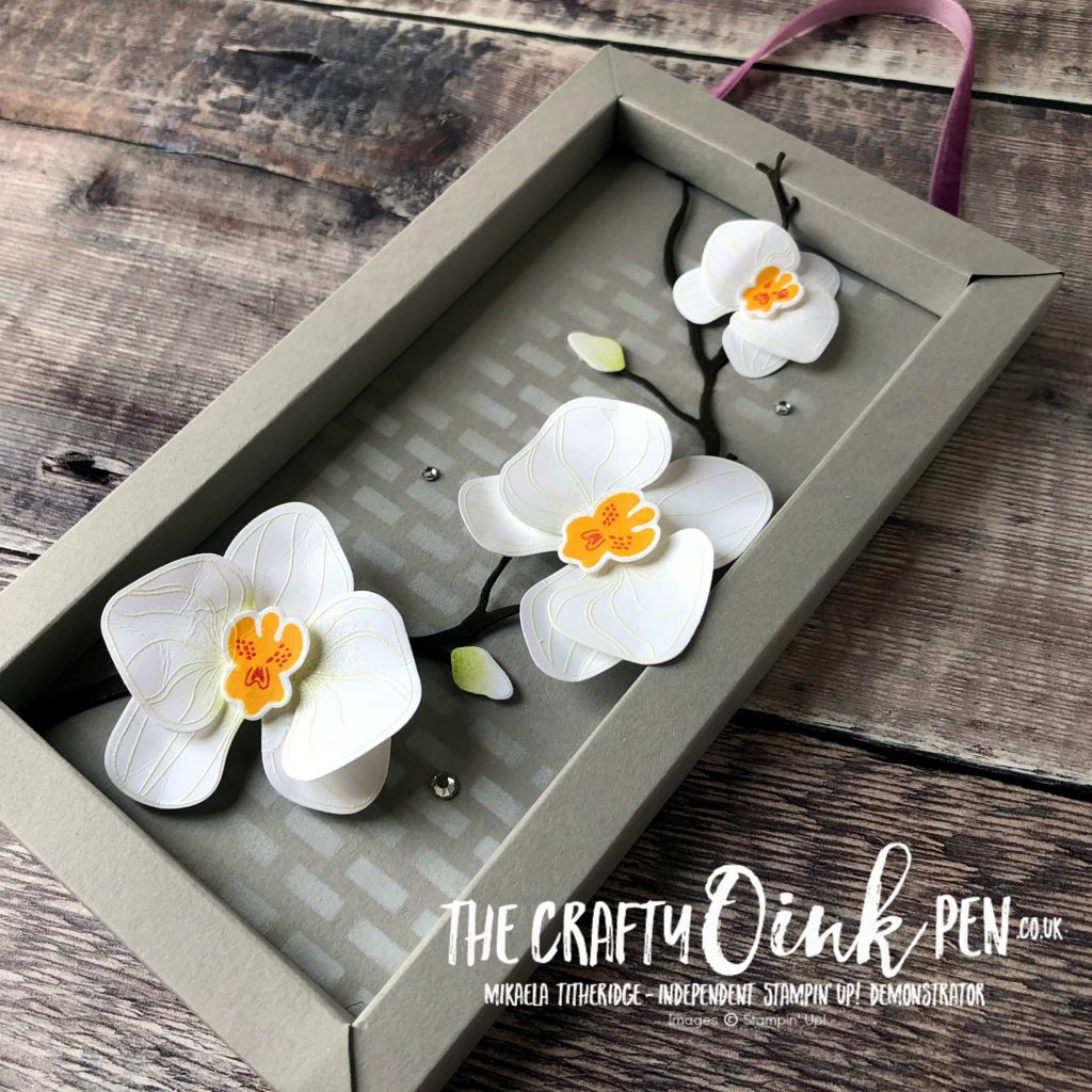 Home Decor piece using Stampin' Up!s Climbing Orchid by Mikaela Titheridge, #6UK Independent Stampin' Up! Demonstrator, The Crafty oINK Pen. Supplies available through my online store 24/7