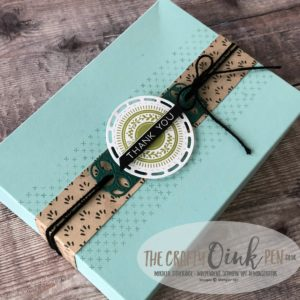 Stitched All Around Gift Box for the Stamping Sunday Blog Hop by Mikaela Titheridge, #6UK Independent Stampin' Up! Demonstrator, The Crafty oINK Pen. Supplies available through my online store 24/7
