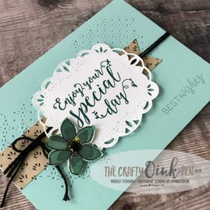 Stitched All Around for the Stamping Sunday Blog Hop by Mikaela Titheridge, #6UK Independent Stampin' Up! Demonstrator, The Crafty oINK Pen. Supplies available through my online store 24/7