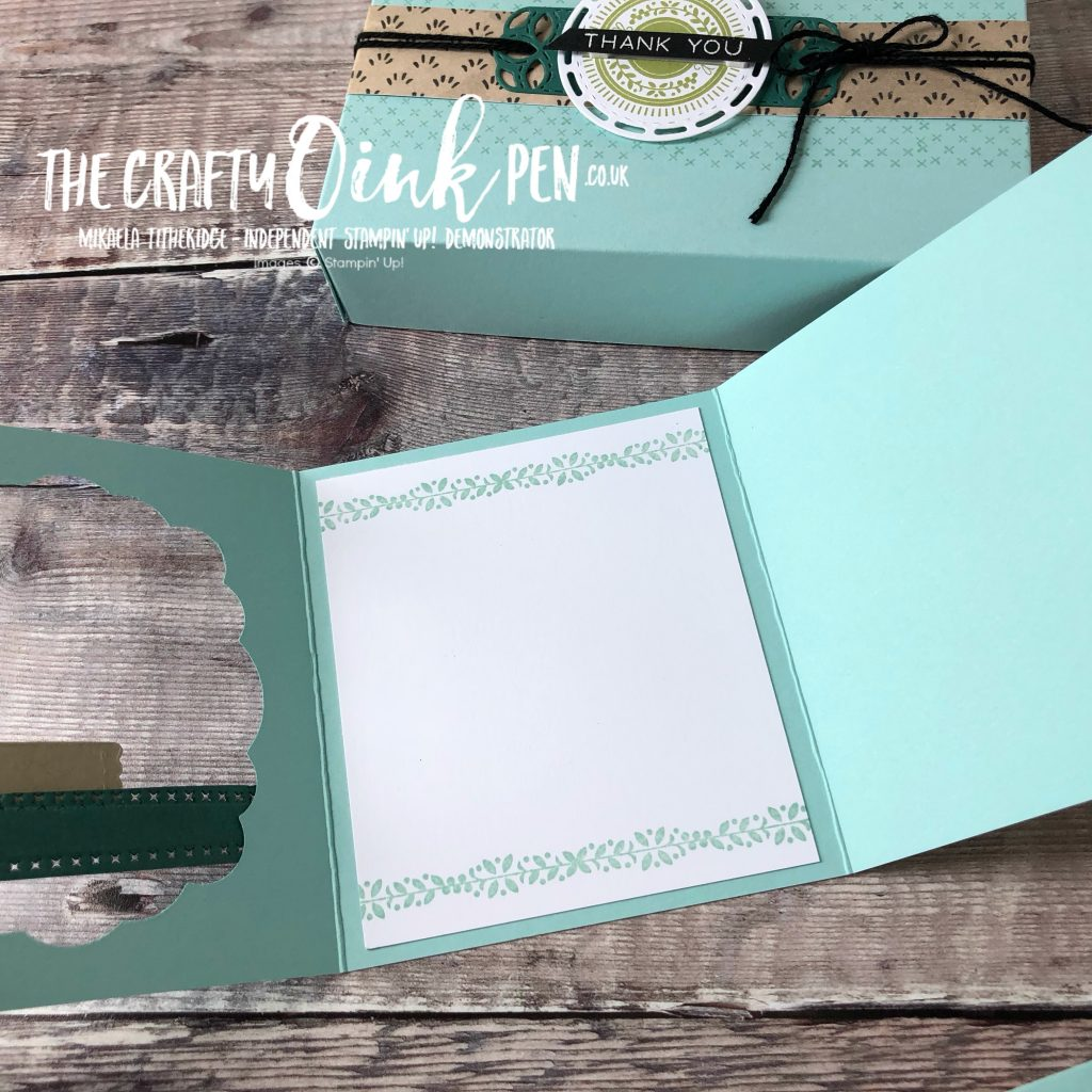 Inside the Aperture Card, created using Stitched All Around Bundle by Mikaela Titheridge, #6UK Independent Stampin' Up! Demonstrator, The Crafty oINK Pen. Supplies available through my online store 24/7