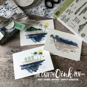 Tranquil Textures Note Card Holder for notecards made using Waterfront Stamp Set by Mikaela Titheridge, #6UK Independent Stampin' Up! Demonstrator, The Crafty oINK Pen. Supplies available through my online store 24/7