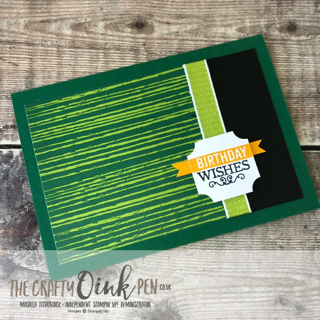 Darling Table Punch meets Tropical Escape for a masculine card by Mikaela Titheridge, #6UK Independent Stampin' Up! Demonstrator, The Crafty oINK Pen. Supplies available through my online store 24/7