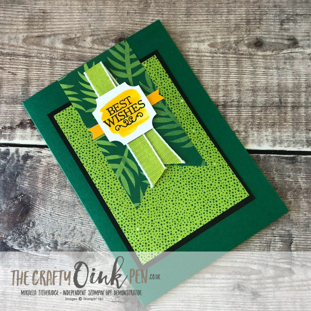 Darling Table Punch Card using Tropical Escape DSP by Mikaela Titheridge, #6UK Independent Stampin' Up! Demonstrator, The Crafty oINK Pen. Supplies available through my online store 24/7