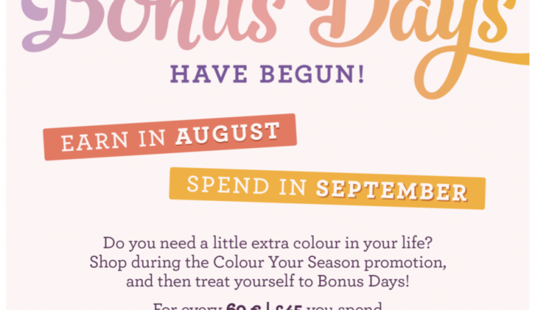 Bonus Day Vouchers – Get your 10% discount vouchers