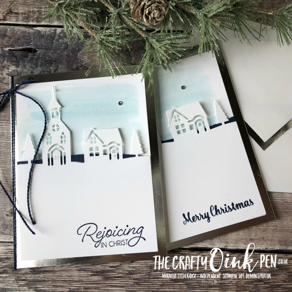Hometown Greetings for Spaldwick Village Church Christmas Cards by Mikaela Titheridge, UK Independent Stampin' Up! Demonstrator, The Crafty oINK Pen. Supplies available through my online store 24/7