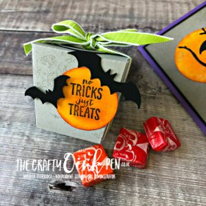 Spooky Sweets Halloween Take Out Thinlits Treat Box by Mikaela Titheridge, #6UK Independent Stampin' Up! Demonstrator, The Crafty oINK Pen. Supplies available through my online store 24/7