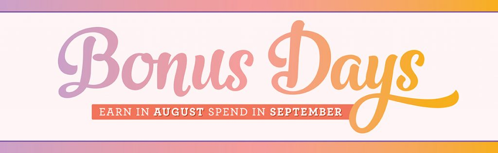 Bonus Day vouchers to spend in September through my online shop by Mikaela Titheridge, #6UK Independent Stampin' Up! Demonstrator, The Crafty oINK Pen. Supplies available through my online store 24/7
