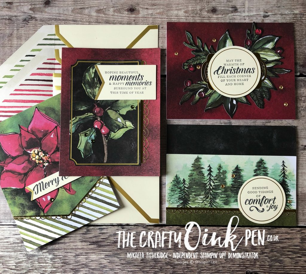 Timeless Tidings Project Kit Christmas Cards by Mikaela Titheridge, The Crafty oINK Pen, Independent Stampin' Up! Demonstrator UK