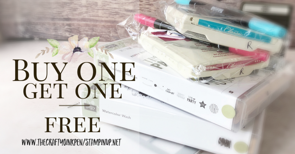 ONLINE Buy one, get one free Sale by Mikaela Titheridge, Independent Stampin' Up! Demonstrator, The Crafty oINK Pen