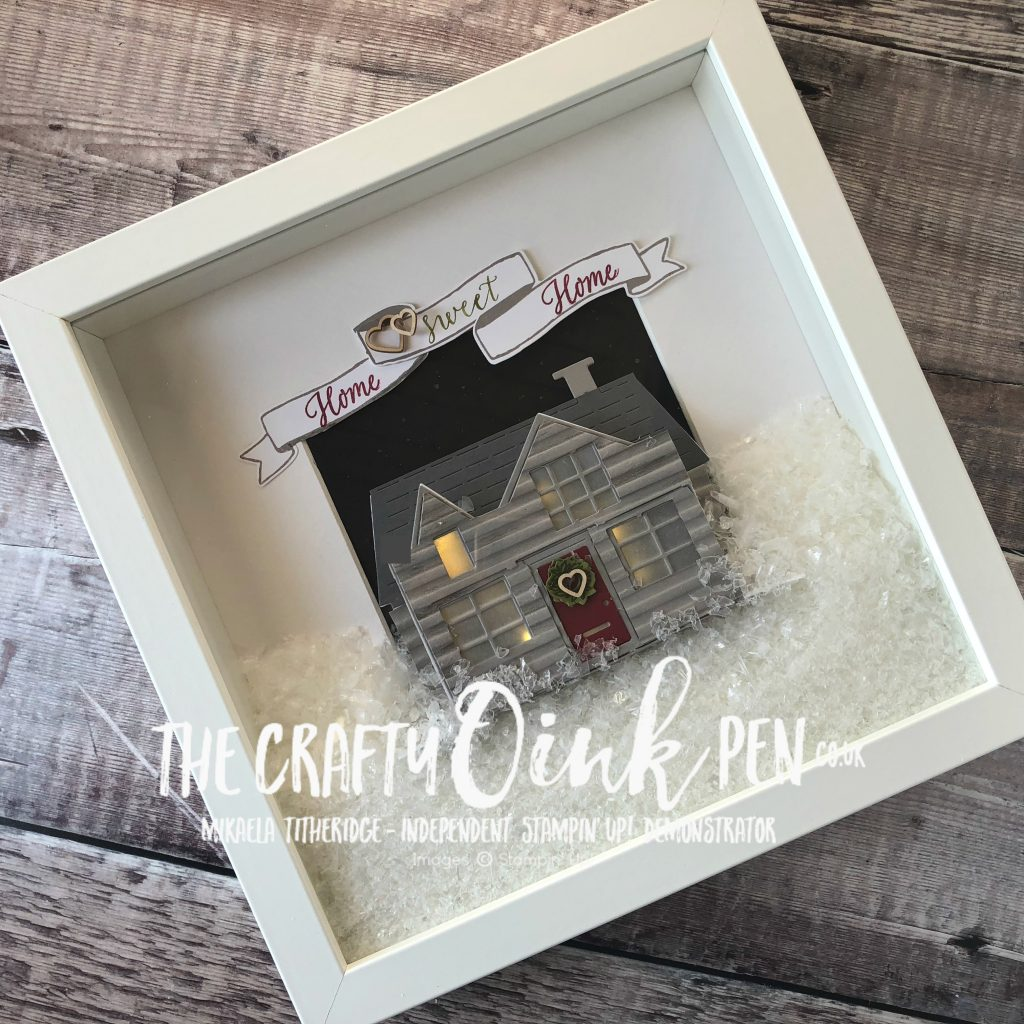 Pop up House for Christmas Home Decor by Mikaela Titheridge, #6UK Independent Stampin' Up! Demonstrator, The Crafty oINK Pen. Supplies available through my online store 24/7
