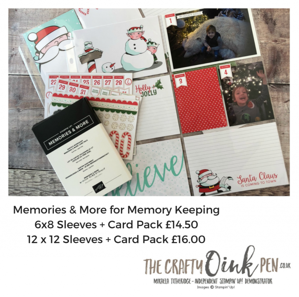 Christmas Cheer for Santas Workshop Memories and More by Mikaela Titheridge, #6UK Independent Stampin' Up! Demonstrator, The Crafty oINK Pen. Supplies available through my online store 24/7