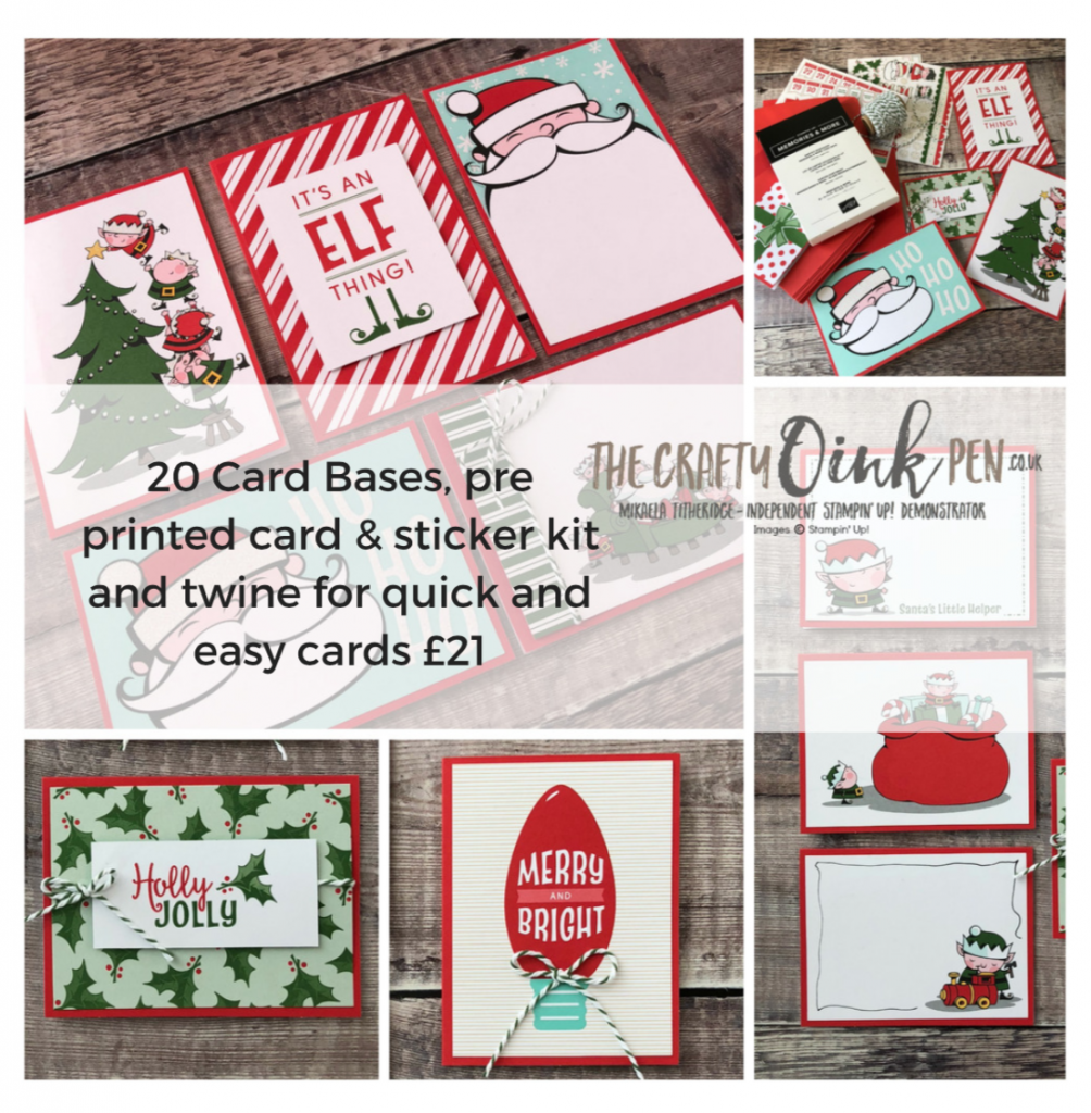 Santas Workshop for Quick and Simple Cards by Mikaela Titheridge, #6UK Independent Stampin' Up! Demonstrator, The Crafty oINK Pen. Supplies available through my online store 24/7