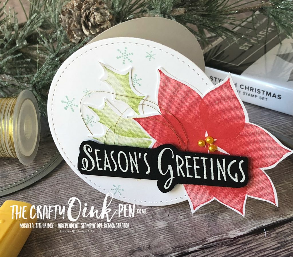 Lets Get Hopping with Unusual Shaped Cards and Stylish Christmas by Mikaela Titheridge, #6UK Independent Stampin' Up! Demonstrator, The Crafty oINK Pen. Supplies available through my online store 24/7