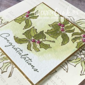 Layers of Leaves using Timeless Tidings and Heat Embossing by Mikaela Titheridge, #6UK Independent Stampin' Up! Demonstrator, The Crafty oINK Pen. Supplies available through my online store 24/7