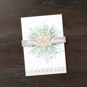 Snow is Glistening from the Snowflake Showcase limited edition products by Stampin' Up! Available throughout November 2018 from Mikaela Titheridge, Independent Stampin' Up! Demonstrator, The Crafty oINK Pen. Shop online