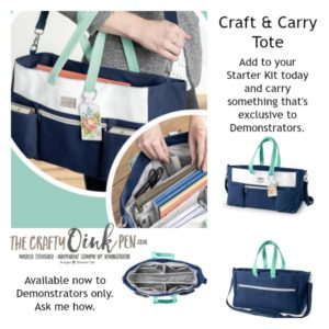Online Extravaganza and Carry Tote available through Mikaela Titheridge, UK Independent Stampin' Up! Demonstrator, The Crafty oINK Pen. Supplies available through my online store 24/7