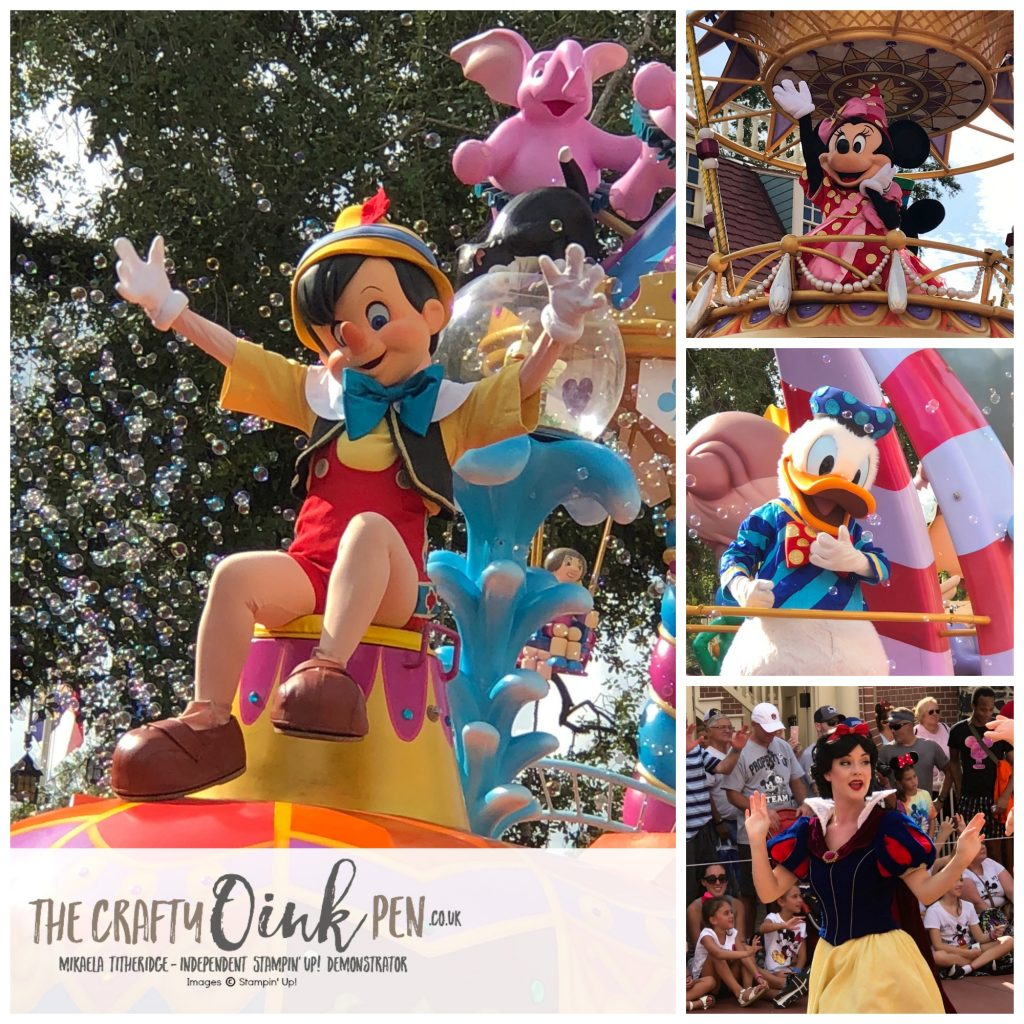 30th Celebrations Onstage live Orlando Magic Kingdom Disney Characters by Mikaela Titheridge, UK Independent Stampin' Up! Demonstrator, The Crafty oINK Pen. Supplies available through my online store 24/7