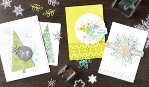 Happiness Surrounds this Snowflake Showcase. As snow is glistening, you'll be pleased you purchase this limited time only set of products in November 2018 from Mikaela Titheridge, UK Independent Stampin' Up! Demonstrator, The Crafty oINK Pen. Shop online 24/7
