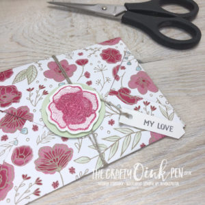 All My Love Designer Series Paper Note Card. Forever Lovely by Mikaela Titheridge, UK Independent Stampin' Up! Demonstrator, The Crafty oINK Pen. Supplies available through my online store 24/7