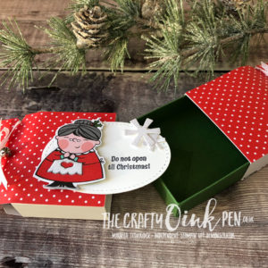 Signs of Santa at Santas Workshop. Christmas Cracker by Mikaela Titheridge, Independent Stampin' Up! Demonstrator, The Crafty oINK Pen. Shop online 24/7 www.thecraftyoinkpen.co.uk/shop