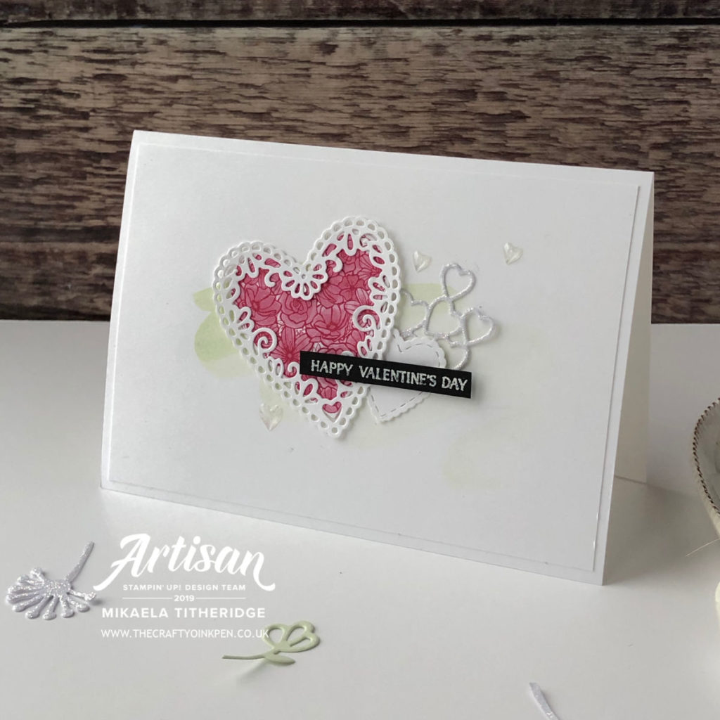 Forever Lovely from All my Love Suite for a Gift Bag and Valentines Day Card by Mikaela Titheridge, UK Independent Stampin' Up! Demonstrator, The Crafty oINK Pen. Supplies available through my online store 24/7