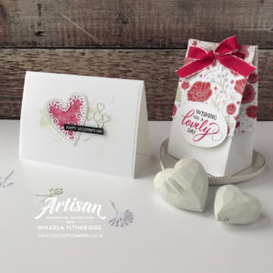 Forever Lovely from the All my Love Suite for a Valentines Day Card and Gift Bag by Mikaela Titheridge, UK Independent Stampin' Up! Demonstrator, The Crafty oINK Pen. Supplies available through my online store 24/7