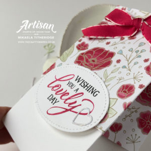 Gift Bag punch board meets All my Love Designer Series Paper by Mikaela Titheridge, UK Independent Stampin' Up! Demonstrator, The Crafty oINK Pen. Supplies available through my online store 24/7