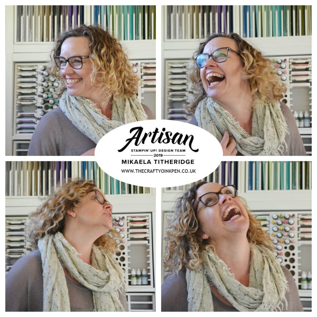 Stampin' Up! Artisan Design Team Member Mikaela Titheridge (2019). The Crafty oINK Pen, Huntingdon, Cambridgeshire, UK