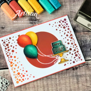 Blow out your Candles for a special Birthday Card using Stampin' Up! Products and cardstock FREE with a qualifying spend during Sale-a-Bration 2019 by Mikaela Titheridge, UK Independent Stampin' Up! Demonstrator, The Crafty oINK Pen. Supplies available through my online store 24/7