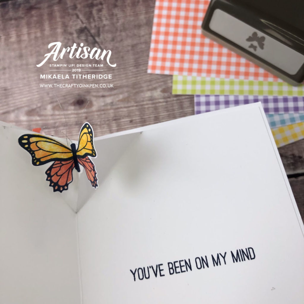 Fancy Fold Pop up for the Gingham Gala Card class by Artisan Design Team Member 2019, Mikaela Titheridge, UK Independent Stampin' Up! Demonstrator, The Crafty oINK Pen. Supplies available through my online store 24/7