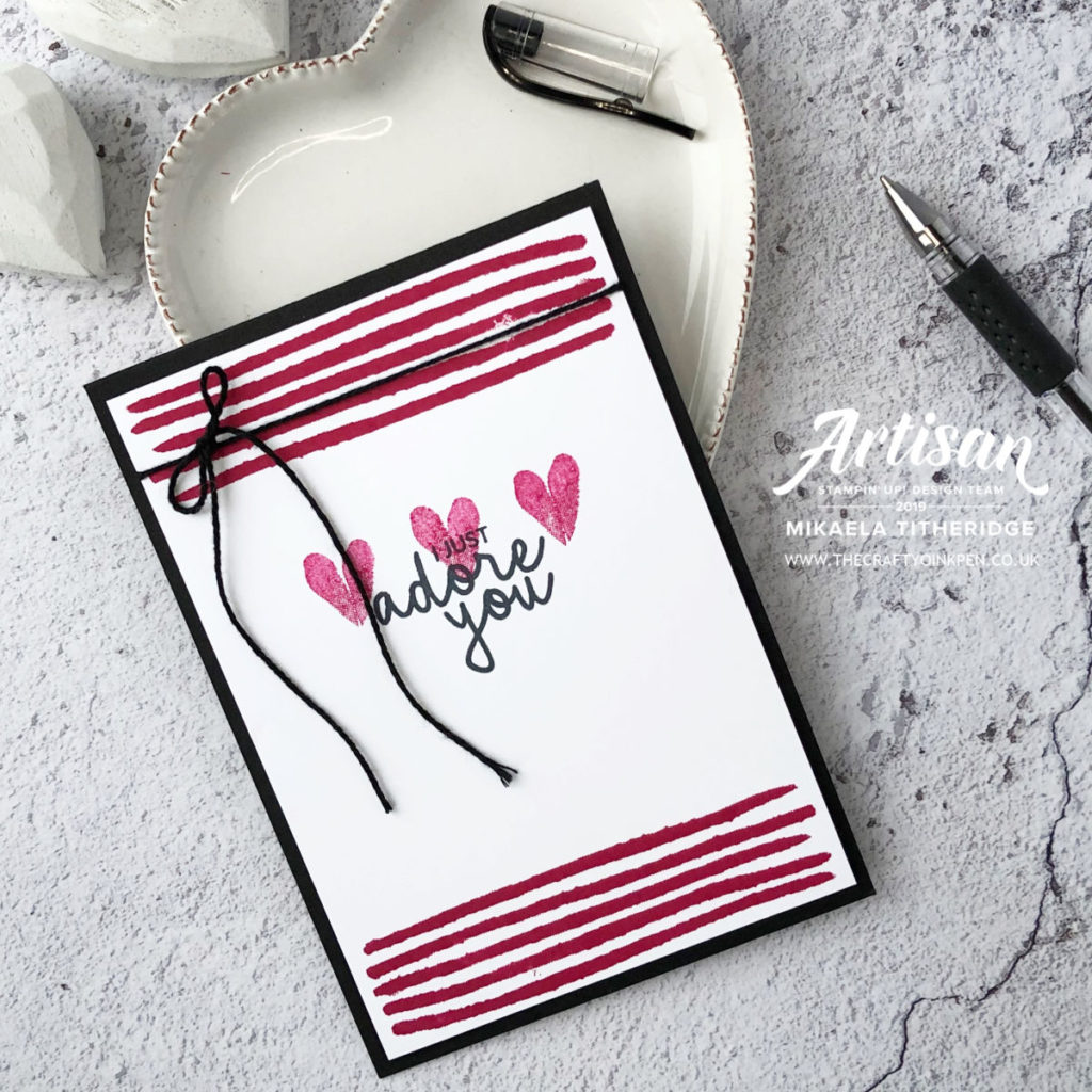 Incredible Like You for Simple Stamping for Beginners Stamping Valentines Day Card by Artisan Design Team Member 2019, Mikaela Titheridge, UK Independent Stampin' Up! Demonstrator, The Crafty oINK Pen. Supplies available through my online store 24/7