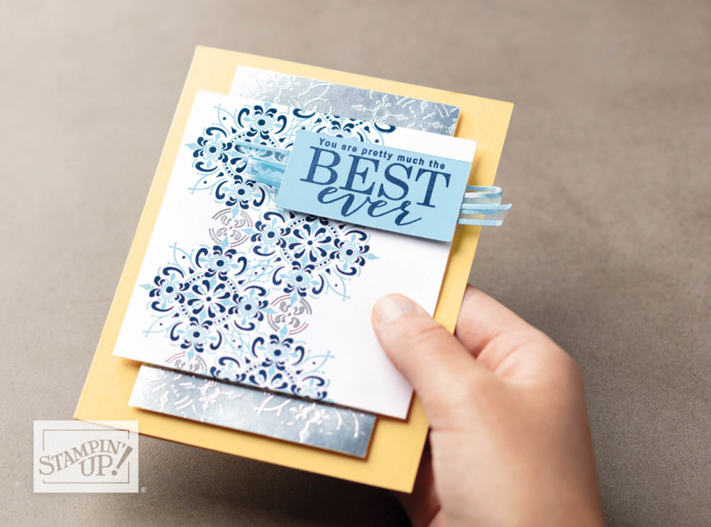 All Adorned FREE Sale-a-Bration Stamp set by Stampin' Up! available with a qualifying order through Mikaela Titheridge, Independent Stampin' Up! Demonstrator, The Crafty oINK Pen. Online shop available