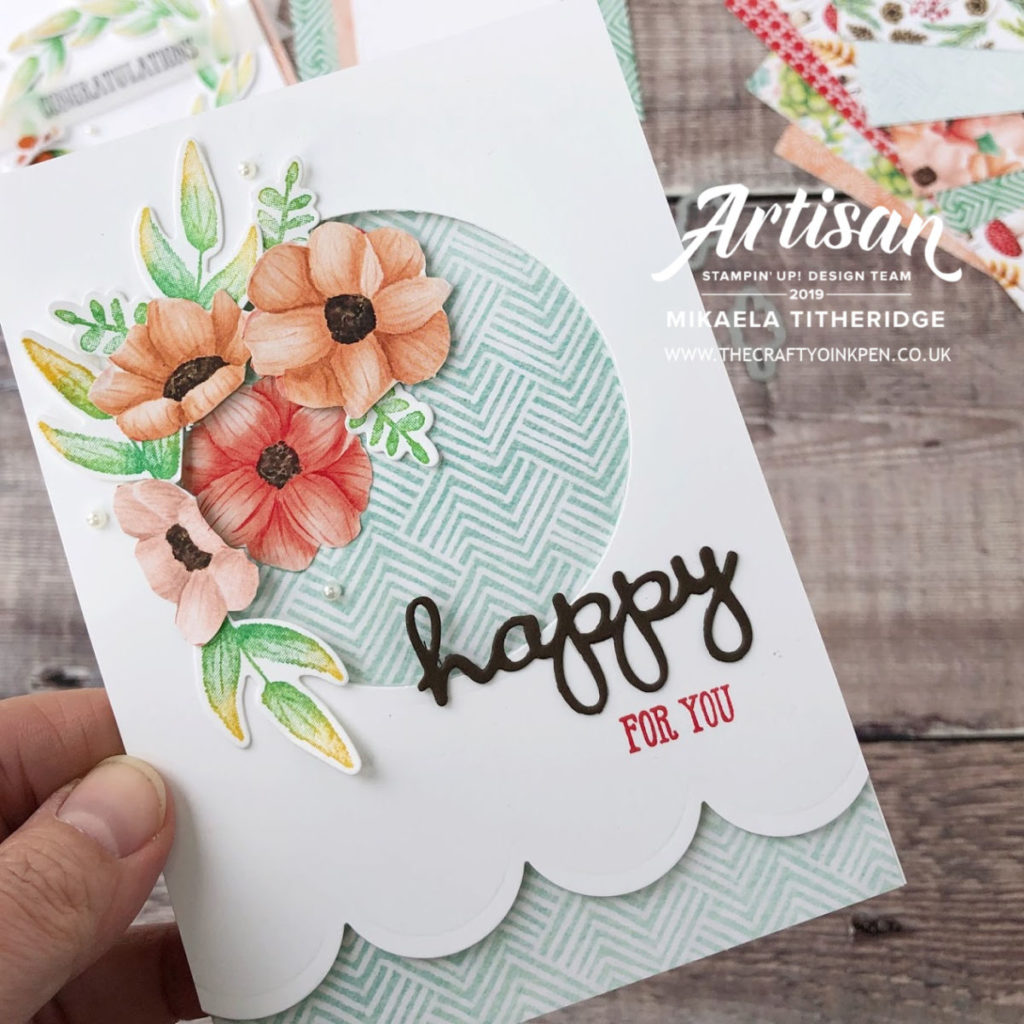 Sale-a-Bration 2019 Coordination, Painted Seasons by Artisan Design Team Member 2019, Mikaela Titheridge, UK Independent Stampin' Up! Demonstrator, The Crafty oINK Pen. Supplies available through my online store 24/7
