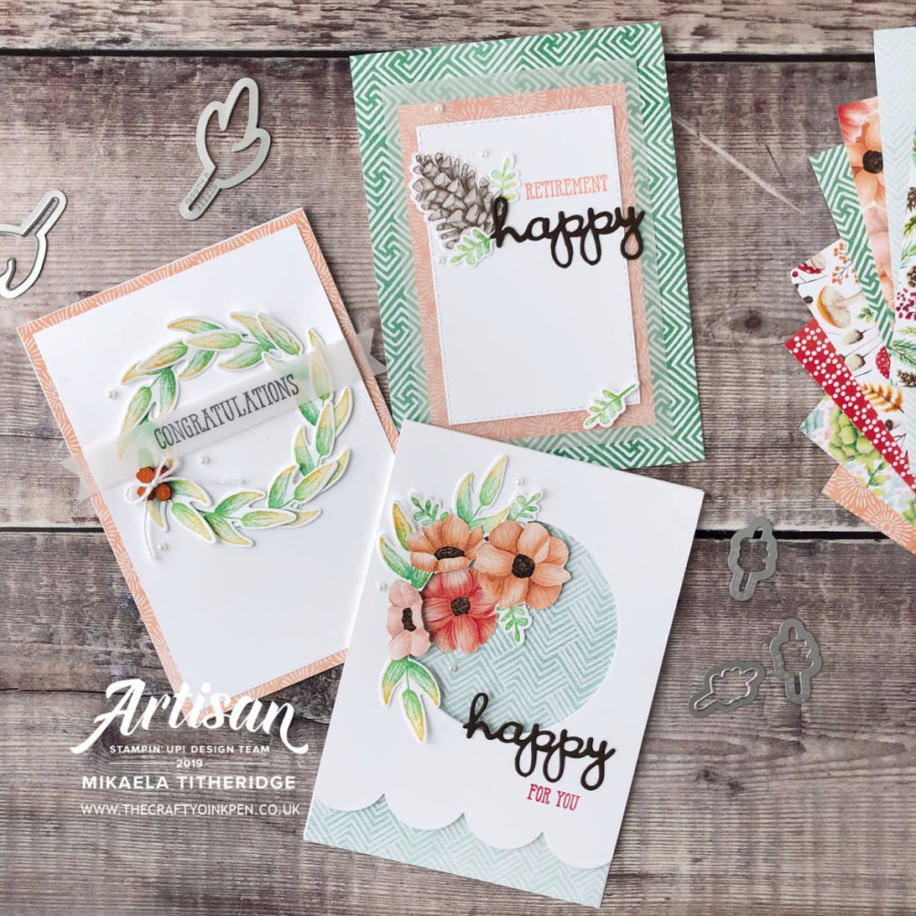 Painted Seasons Sale-a-Bration Coordination products by Artisan Design Team Member 2019, Mikaela Titheridge, UK Independent Stampin' Up! Demonstrator, The Crafty oINK Pen. Supplies available through my online store 24/7