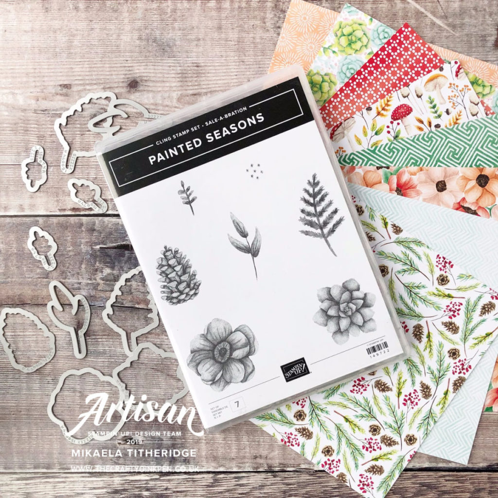 Painted Seasons Suite, Coordination Sale-a-bration available February 2019 from Artisan Design Team Member 2019, Mikaela Titheridge, UK Independent Stampin' Up! Demonstrator, The Crafty oINK Pen. Supplies available through my online store 24/7