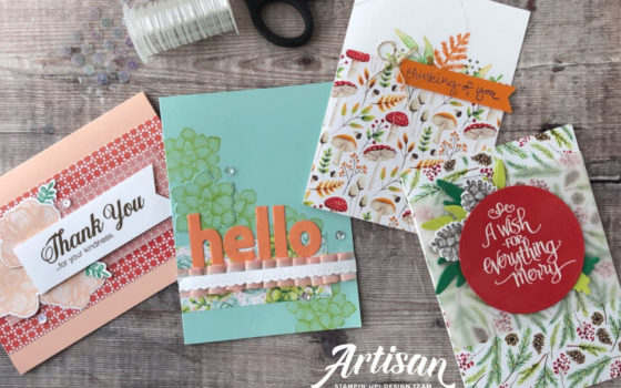 Painted Seasons Stamp Set and Papers, Sale-a-Bration FREEBIE available from 15th February through Artisan Design Team Member 2019, Mikaela Titheridge, UK Independent Stampin' Up! Demonstrator, The Crafty oINK Pen. Supplies available through my online store 24/7