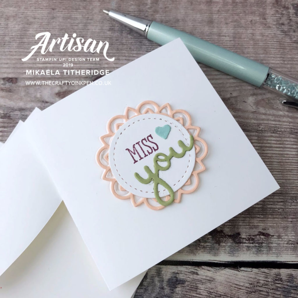 Well Said Dear Doily Note Card and Tag Gift Box by Artisan Design Team Member 2019, Mikaela Titheridge, UK Independent Stampin' Up! Demonstrator, The Crafty oINK Pen. Supplies available through my online store 24/7