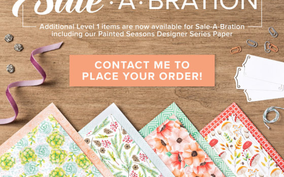 FREE Stampin' Up! Sale-a-Bration items from Artisan Design Team Member 2019, Mikaela Titheridge, UK Independent Stampin' Up! Demonstrator, The Crafty oINK Pen. Supplies available through my online store 24/7