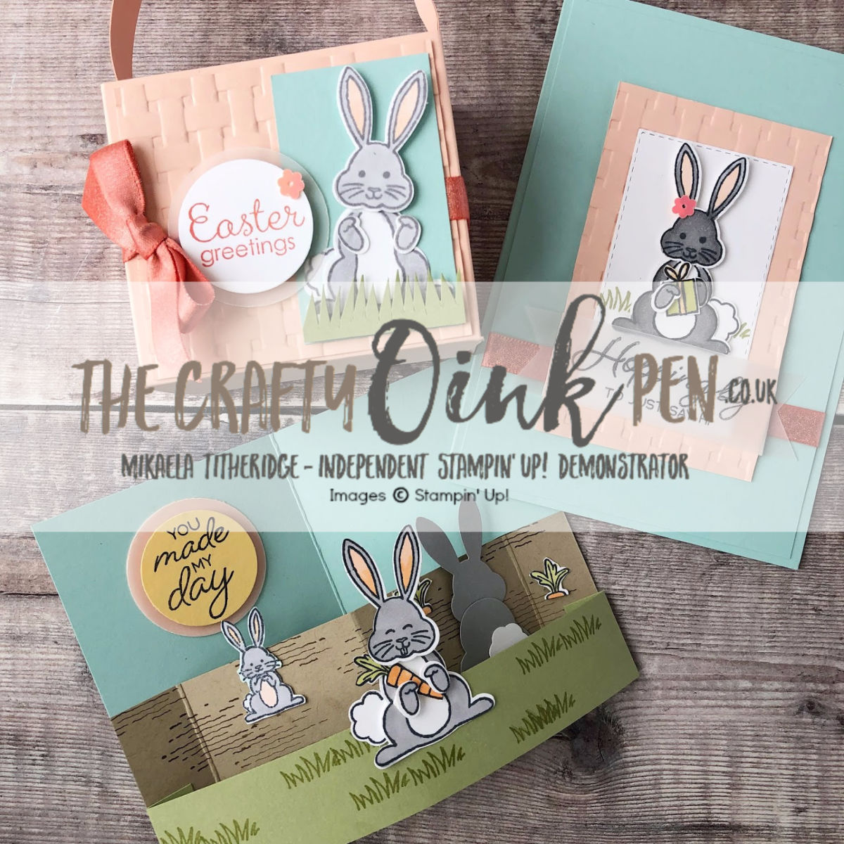 Best Bunny Class set by Artisan Design Team Member 2019, Mikaela Titheridge, UK Independent Stampin' Up! Demonstrator, The Crafty oINK Pen. Supplies available through my online store 24/7
